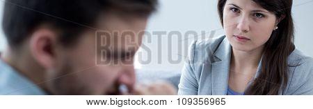 Patient Young Psychologist
