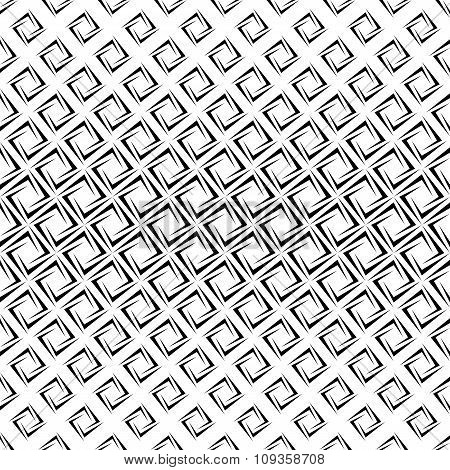 Monochrome repeating rectangular spiral pattern