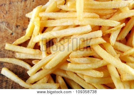 French fried potatoes background