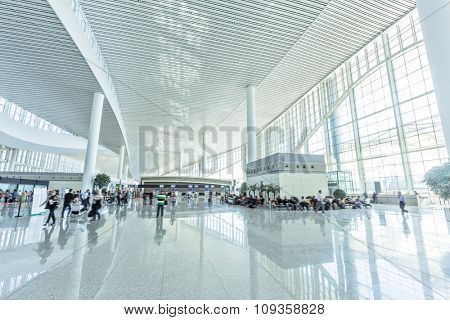 interior of bright modern hall