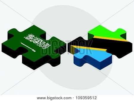 Saudi Arabia And Tanzania Flags