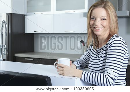 woman relaxing in the room