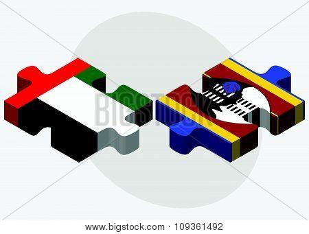 United Arab Emirates And Swaziland Flags