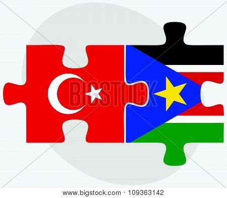 Turkey And South Sudan Flags