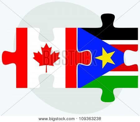 Canada And South Sudan Flags