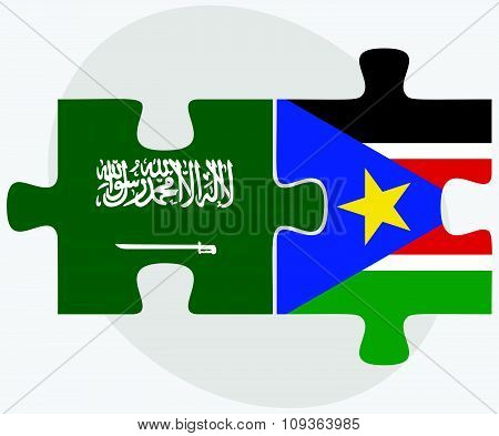 Saudi Arabia And South Sudan Flags