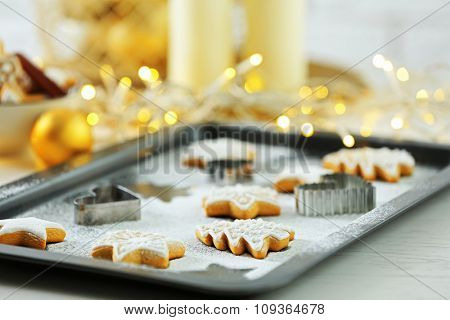 Beautiful cookies with Christmas decor