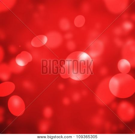 Red background with circle bokeh