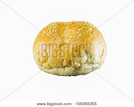 The Fresh Bread  Isolated On White Background, Selective Focus