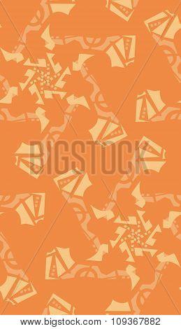 Seamless Orange Star Background