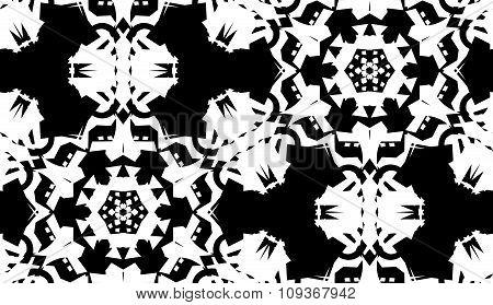 White On Black Doily Pattern