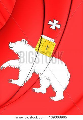 Flag Of Perm, Russia.