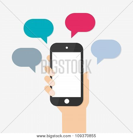Text messaging flat design concept