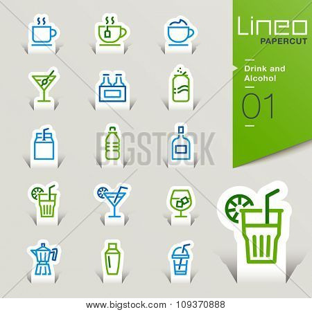 Lineo Papercut - Drink and Alcohol outline icons