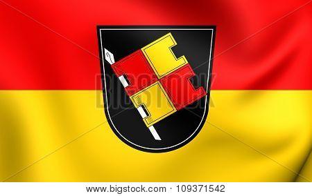 Flag Of Wurzburg, Germany.