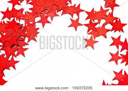 many stars on white background