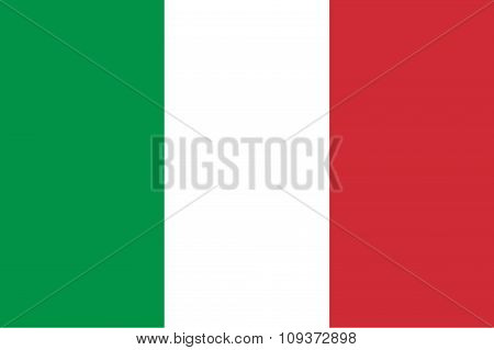 Standard Italian Flag With Red Gree Blue Color Mode And Ratio Standard Size