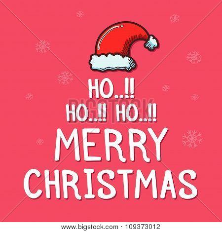 Santa Claus Christmas Greetings Typography