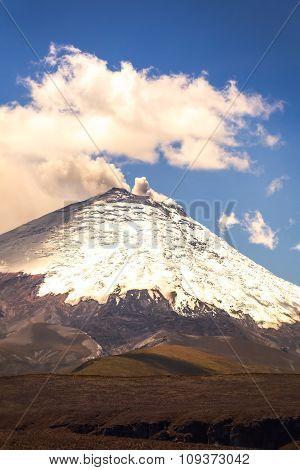 Ash And Gas From Ecuador Cotopaxi Volcano