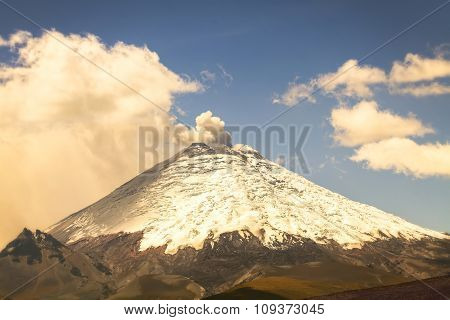 Cotopaxi Volcano Day Eruption