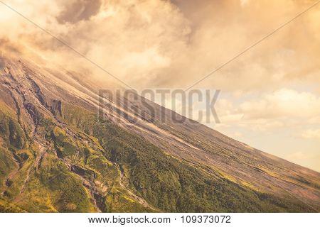 Close Up Of Tungurahua Volcano Day Explosion