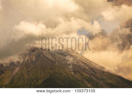 Ash And Gas From Tungurahua Volcano