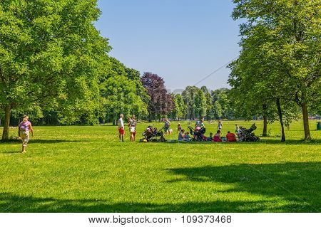 Munich English garden park