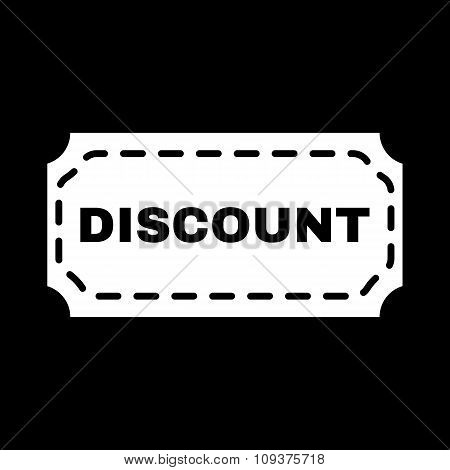 The discount icon. Coupon and gift, offer symbol. Flat