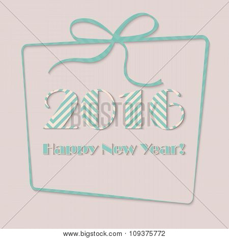 Happy new year 2016 in present vector illustration concept