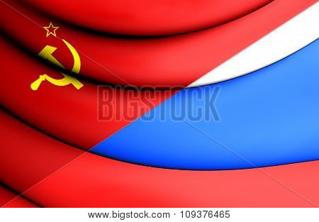 Flag Of The Soviet Union And Russia