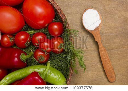Wooden Spoon With Salt