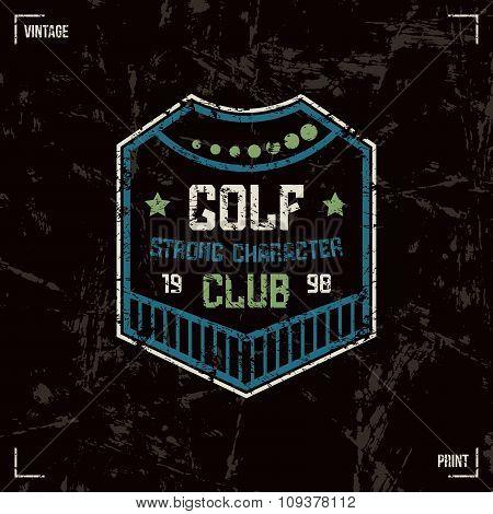 Golf Club Badge