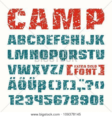 Sanserif Font In Military Style