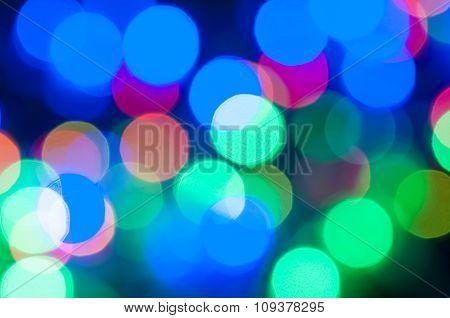 bokeh background of christmas light