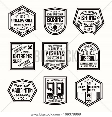 Set Of Sports Badges