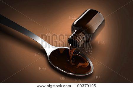 Medicine with Spoon