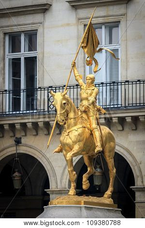 PARIS/FRANCE - 30-03-2013: Statue Joan Of Arc In Paris