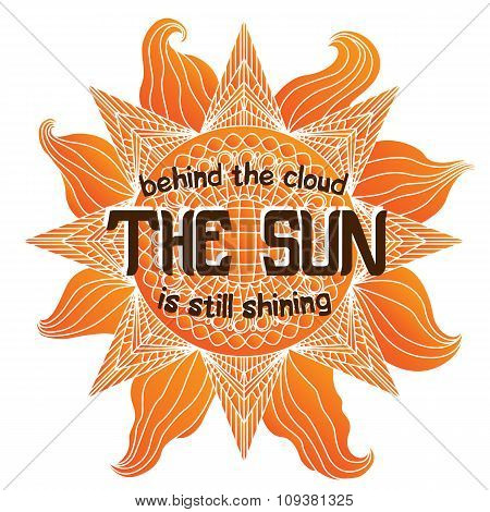 Colorful Summer Sun Illustration On White Background