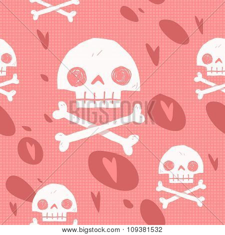 Pirate cartoon skull flag party card.