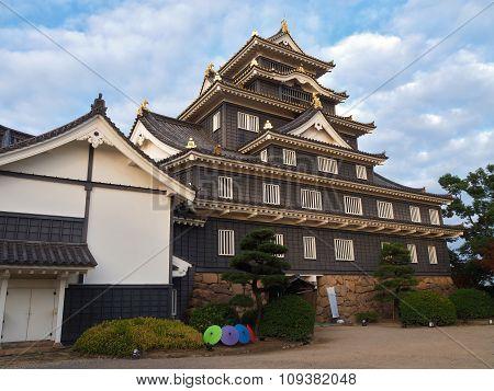 Okayama Castle in Okayama Prefecture, Japan.