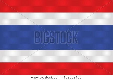 Thailand Flag In Art Design  Vector Illustration 3
