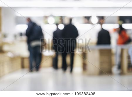 Blurred People shopping Retail shop Interior Background