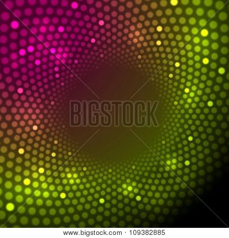 Bright shiny lights abstract background. Vector illustration