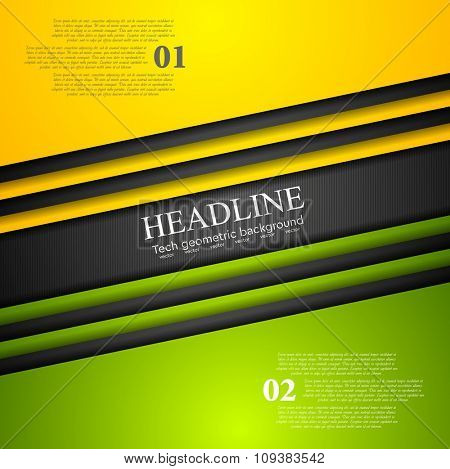 Abstract bright tech corporate background. Vector illustration