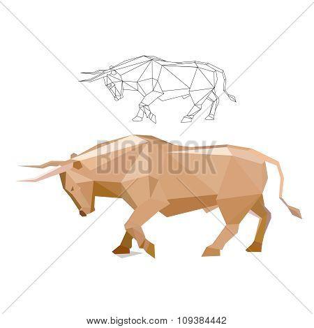 Polygon Charging Bull