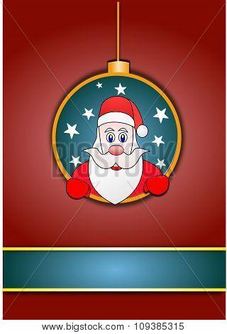 Santa Clause xmas card