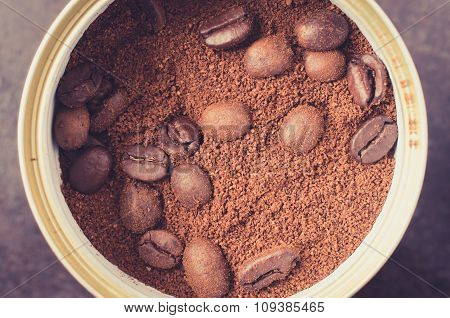 Cans Of Ground Coffee