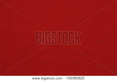Red Painted House Facade With Spatula Technique Structure