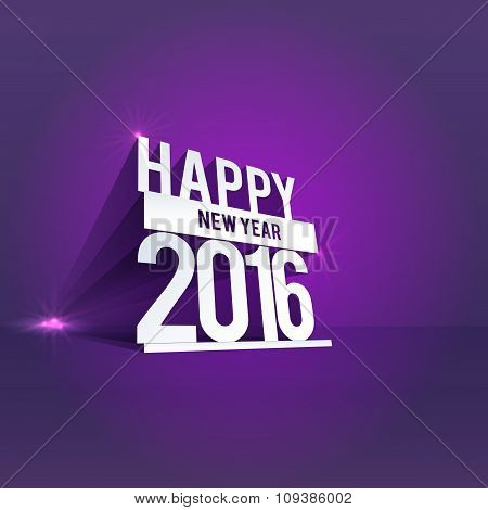 Vector Happy New Year 3d text message