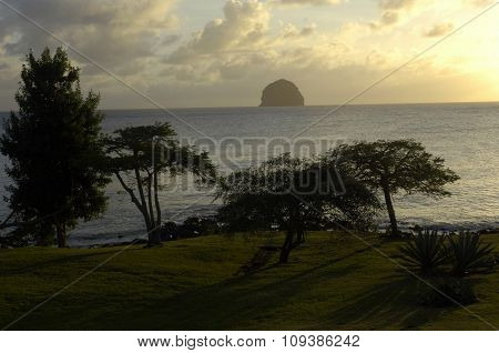 Landscape Of Le Diamant In Martinique